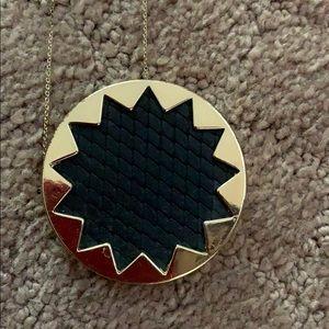 House of Harlow black gold large sunburst necklace